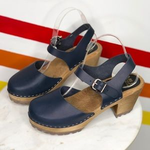 NEW MIA Shoes navy ABBA Clogs size 40